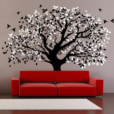 WallStickersDecal Huge Green Couple Tree Wall Decal Sticker - 6 ...