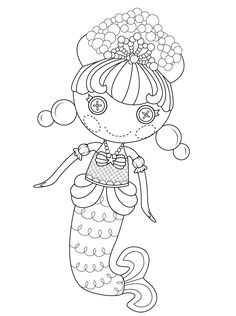 Lalaloopsy Bubbly Mermaid Coloring Page From Category Select 30443 Printable Crafts Of Cartoons Nature Animals Bible And Many More