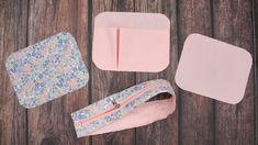 DIY 화장품 파우치 만들기 | 생리대 파우치 | 가방속 정리 꿀템 | 지퍼 사각 박스 파우치 [소잉타임즈] : 네이버 블로그 Creative Crafts, Bags, Projects, Women, Diy Face Mask, Totes, Toiletry Bag, Handbags, Log Projects
