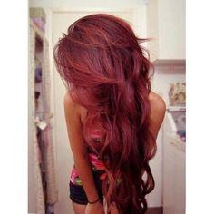Dark red/ Burgundy hair. ADORABLE