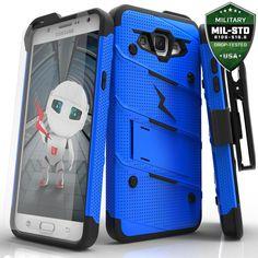 Zizo BOLT Super Defender Samsung Galaxy J7 Case - Blue/Black