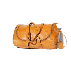Spiced Cider Tan Leather  Weekend or Gym Bag on Etsy, $159.00