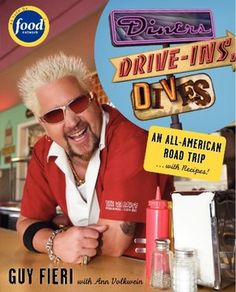 """We now have both editions of Guy Fieri's cookbooks from his popular TV show - """"Diners, Drive-ins & Dives"""" - these are great gifts for Dads!  $19.95 at Uncle Ricky's!"""