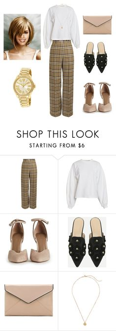 """The look"" by miloni-jhaveri ❤ liked on Polyvore featuring NLY Trend, La Diva and Michael Kors"