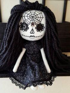 15.5 Handmade Sugar Skull Doll
