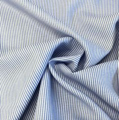 Blue and White Stripe Light Weight Linen - Perfect for shirts, summer dresses and trousers and works with many of our patterns. Take a look using the link in our Bio. Take That, Trousers, Blue And White, Sew, Summer Dresses, Patterns, Link, Fabric, Shirts