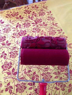 Quaint Decor Patterned Paint Roller onto fabric Patterned Paint Rollers, Punk Room, Roller Design, Sofa, Couch, Fabric, Ireland, Painting, Furniture