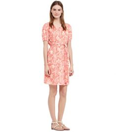 Tory Burch Gauze Drop-waist Short Dress