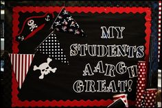 Pirate bulletin board from Schoolgirl Style!  www.schoolgirlstyle.com
