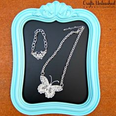 Make Your Own Lace Butterfly Jewelry
