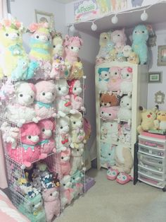 "kawaiiwoobat: ""I was tagged by @meepit to show my alpacasso display. I really need the purple lovely baby in my life!"""