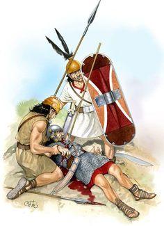 The death of Iberian chief Indíbilis - Carlos Fernández del Castillo