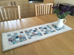 A personal favourite from my Etsy shop https://www.etsy.com/uk/listing/277930838/table-runner-quilted-table-runner