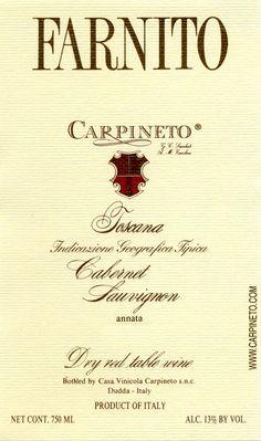 Un vin d'une finesse... Dans la sélection des vins de Carpineto, j'aime le Dogajolo, mais le Farnito est vraiment dans une classe à part!