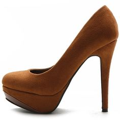 Ollio Womens Platforms Pumps Faux-Suede Classic High Heels Stilettos Multi-Colored Shoes (8, Brown) Ollio,http://www.amazon.com/dp/B00AFG1FEO/ref=cm_sw_r_pi_dp_3hXmsb04MCXGFSF5