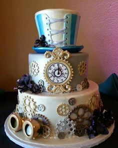 Amazing Wedding Cakes Steampunk | The Design: You can include steampunk wedding event ideas into all ...