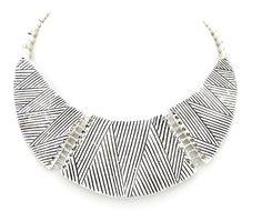 Collar egipcio plateado www.cobaltoaccesorios.com  #moda #cobaltoaccesorios  #complementos #tendencias  #collar