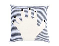 Povlak na polštář Fancy Finger od LuckyBoySunday, tmavě modrý | DesignVille