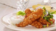 Crispy Chicken American Style - Oppskrift fra TINE Kjøkken Crispy Chicken, Meat, American, Food, Style, Chicken Flatbread, Swag, Essen, Meals