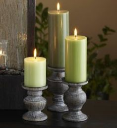 Modern Rustic Pillar Holders.  Only $15 this weekend on the Online Outlet!  Shop www.partylite.biz/andreabiggs