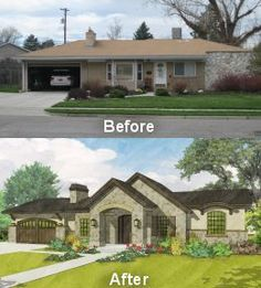 Exterior Before And After Exteriors Pinterest Curb Appeal House And Ranch
