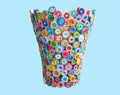 great upcycled recycled gifts Recycled Magazine Vase. Great for Mothers Day! 100% eco-friendly.
