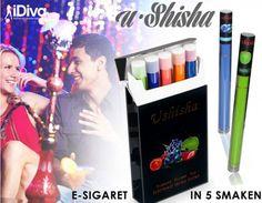 e sigaretten in 5 verschillende smaken.