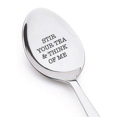 Think of Me Unique Tea Spoon | Long Distance Gifts for Best Friends