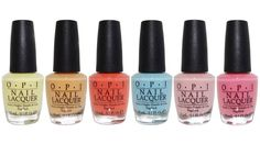 OPI Retro Summer Collection Summer 2016 Nail Lacquer Set of 6 Colors