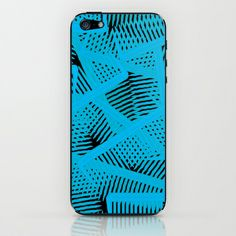 Combs In Blue  iPhone & iPod Skin #Combs #blue #Gifts #art