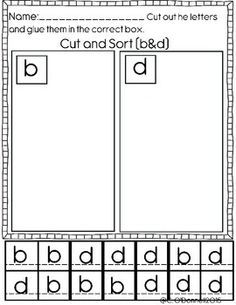 Dyslexia Worksheets: Help with b,d,p and q. by The Crazy Pre-K Classroom Dyslexia Activities, Dyslexia Teaching, Teaching Reading, Learning Activities, Kids Learning, School Ot, Beginning Of School, Alphabet Worksheets, Letter Recognition