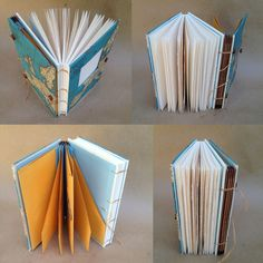 Items similar to Compact Hybrid Travel Journal with Custom Map - Writing Journal with Pockets and Envelopes - MADE TO ORDER on Etsy Travel Journals, Art Journals, Custom Map, Journal Covers, Book Binding, Book Art, Gate, Compact, Addiction