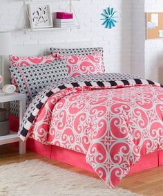 Love this Coral Kennedy Bed in a Bag Set by Victoria Classics on #zulily! #zulilyfinds