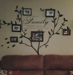 decorative family photos hanging in kitchen | Customer Image Gallery for Family Like Branches On A Tree vinyl ...