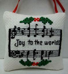 Joy To The World Cross Stitched Christmas by luvinstitchin4u, $9.50