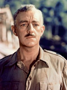 """Sir Alec Guinness as he appeared in """"The Bridge On The River Kwai."""" He was also Obi Wan Kenobi in """"Star Wars"""" and Prince Faisal in """"Lawrence of Arabia"""". He appeared in some of the biggest films of the and Hollywood Actor, Golden Age Of Hollywood, Hollywood Stars, Classic Hollywood, Old Hollywood, Classic Movie Stars, Classic Movies, Best Actor Oscar, Alec Guinness"""