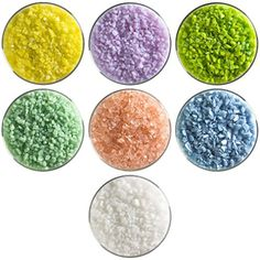 For my next project! Spring Designer Collection - 7 Colors, 90 COE, Bullseye Glass Coarse Frit Sampler Pack New Hampshire Craftworks http://www.amazon.com/dp/B00SVWF9SC/ref=cm_sw_r_pi_dp_mNXevb1686QYR