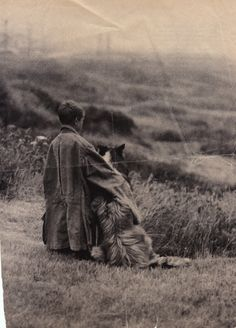 Looks like a Border Collie in the Highlands to me! Boy and rough collie - Does anyone know anything about this picture? I've kept it for years and don't know where it came from. Rough Collie, Collie Dog, Vintage Photographs, Vintage Photos, Scotch Collie, Vintage Dog, Sheltie, Dog Photos, Mans Best Friend