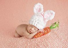 Newborn Bunny Hat Newborn Photo Prop Newborn by VioletsPlayground, $30.00