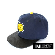 Indiana Pacers Carbon Fibre Snapback by Mitchell & Ness   Find it at www.hatlocker.com #nba #indiana #pacers #snapback