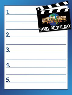 Universal Studios Florida - faves of the day - Project Life Journal Card by pixiezilla -