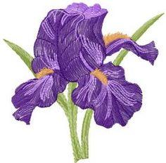 Orchids free machine embroidery design. Machine embroidery design. www.embroideres.com