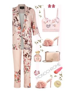 """""""Head to Toe Pink'"""" by dianefantasy ❤ liked on Polyvore featuring River Island, STELLA McCARTNEY, Topshop, Tory Burch, Gucci, e.l.f., Monet, polyvorecommunity, polyvoreeditorial and monochromepink"""