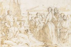 Giovanni Battista Tiepolo (Venice 1696-1770 Madrid), A Family Group, Late 1750s #LCDQLA