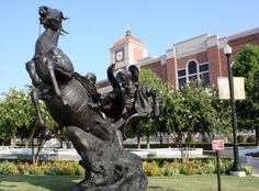 Slicker Shy Sculpture by Herb Mignery, Lewisville City Hall, Lewisville, Texas