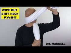 Here's a great technique to give you fast results for your stiff neck. Increasing range of motion in the joints helps increase better function so healing can. Stiff Neck Exercises, Neck And Shoulder Exercises, Stiff Neck Remedies, Back Pain Exercises, Shoulder Workout, Oblique Exercises, Hamstring Exercises, Isometric Exercises, Chest Exercises