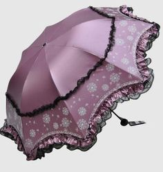 New-Womens-Girls-Anti-Uv-Lace-Sun-Folding-Compact-Parasol-Princess-Rain-Umbrella