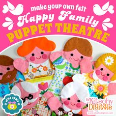 Happy Family Puppets Sewing Templates!