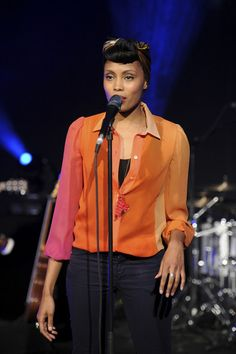 Singer Imany performs during the Elite Model Look 2011 France final show in Paris.