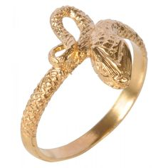 Ring Baby Snake Gold Plated | Venusi Jewels